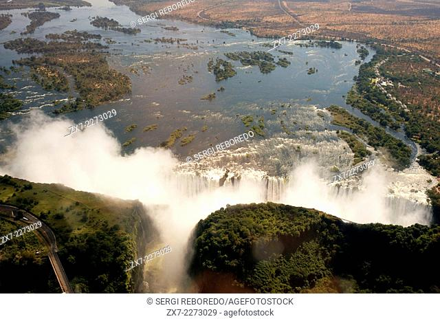 Aerial views of the Victoria Falls. In our minds, there's no better way to get a true sense of the immense scale of Victoria Falls than from the air