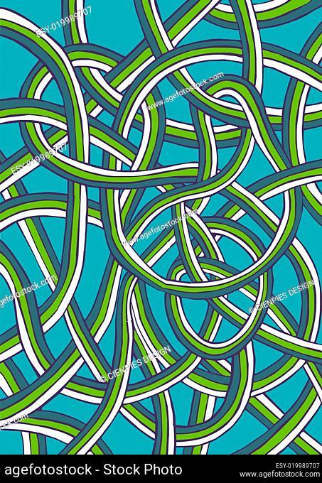 Retro colorful blue background