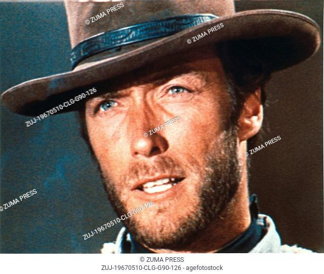 May 10, 1967; Madrid, SPAIN; Actor CLINT EASTWOOD stars as Monco in the Sergio Leone directed western drama, 'For A Few Dollars More