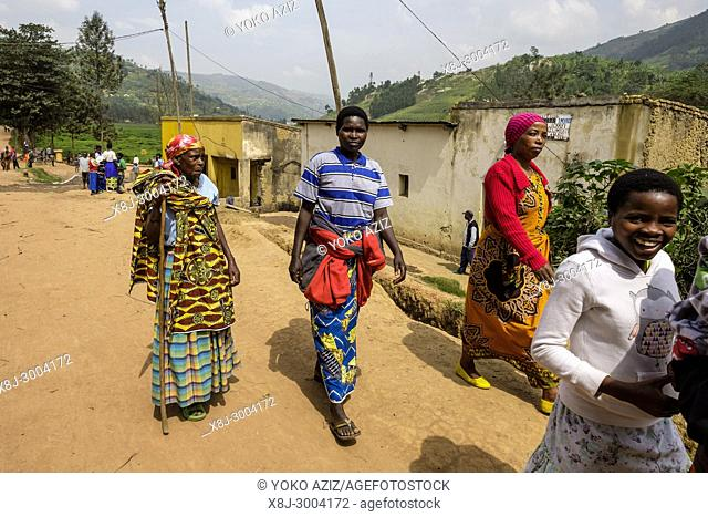 Rwanda, surroundig of Byumba, daily life
