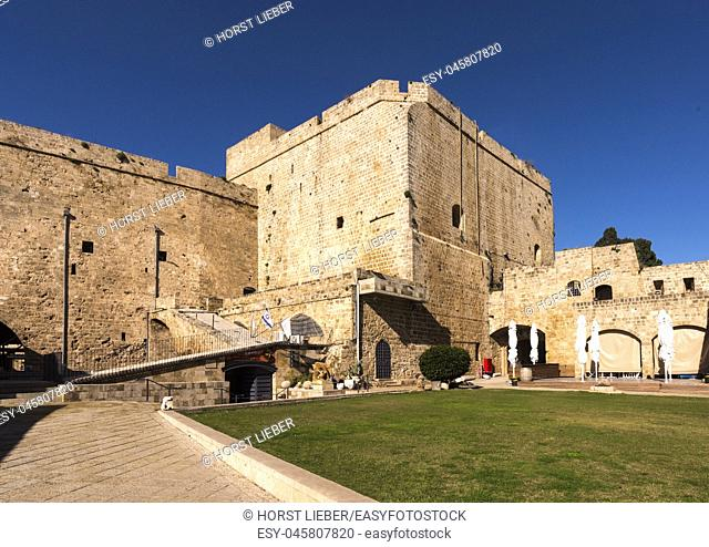 Hospitallerian citadel, fortress of the Crusaders in Akko, Israel, Middle East