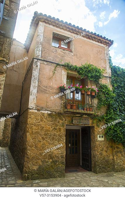 Art gallery in a rustic house. Medinaceli, Soria province, Castilla Leon, Spain