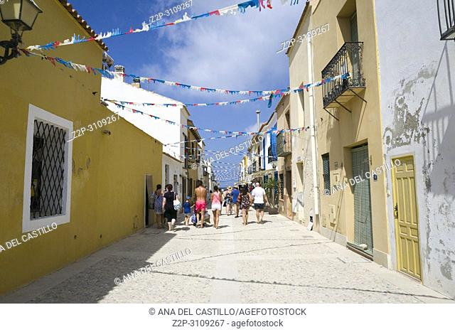 Streets in Tabarca, is an islet located in the Mediterranean Sea, close to the town of Santa Pola, in the province of Alicante, Valencian community
