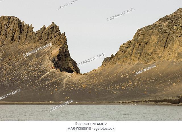 Antarctica, South Shetlands Islands, Deception Island, Telephone Bay