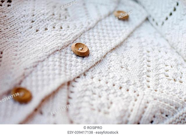 White cotton knitted sweater pattern