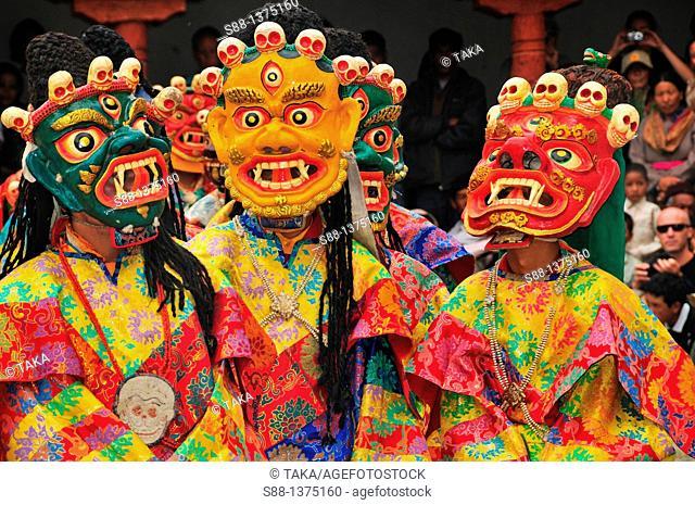 Chaam Musk Dance Festival at Phyan monastery