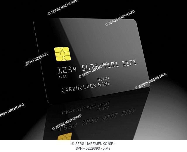 Bank card, illustration