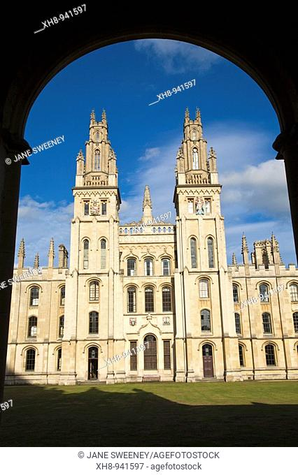 All Souls College, Oxford, Oxfordshire, England, UK