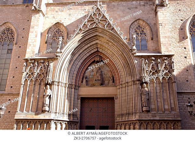 Santa maria del mar church, Barcelona (Gothic Quarter)