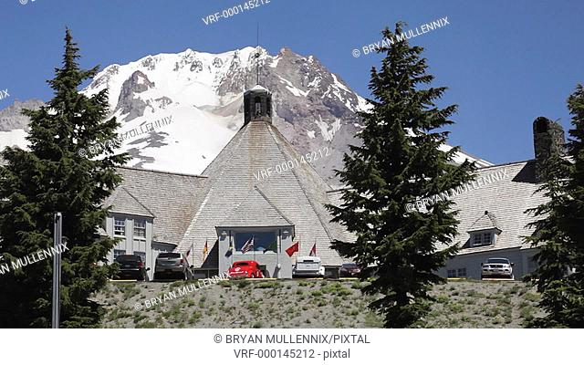 High atop Mount Hood, Timberline Lodge, Oregon