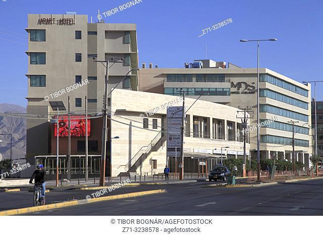 Chile, Antofagasta Region, Calama, Avenida Balmaceda, street scene,