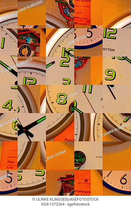 time abstract, composition