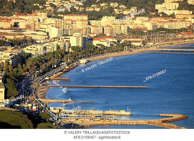 The city of Cannes la Bocca, Alpes-Maritimes, French Riviera, Côte dAzur, Provence-Alpes-Côte d'Azur, France