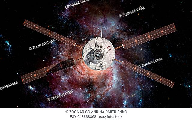 The European Space Agency's Automated Transfer Vehicle-4 approaches the International Space Station