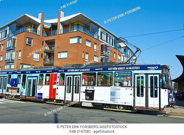 Tram 5, Katajanokka, Helsinki, Finland