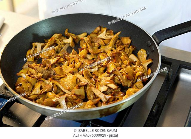Cooking chanterelle
