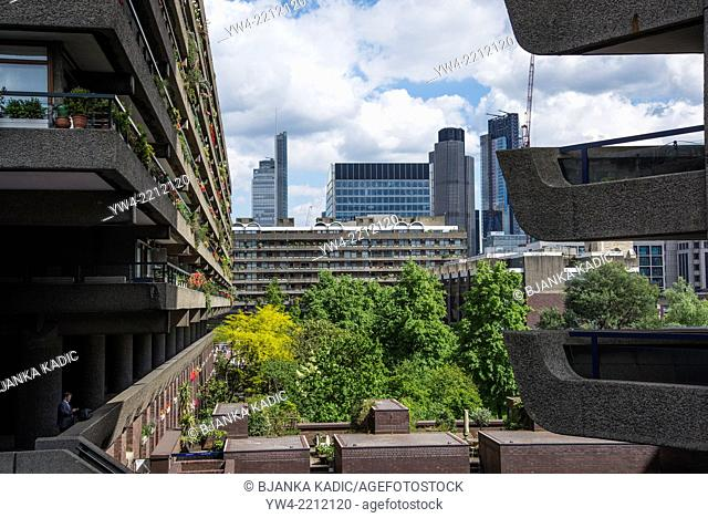 Barbican residential estate, City of London, UK