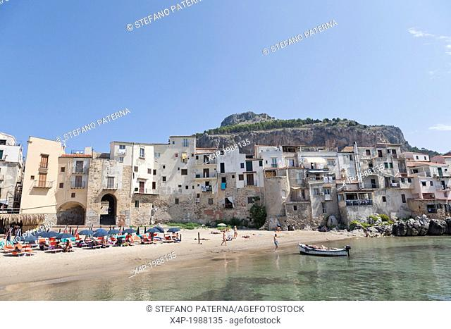 Old port and old town of Cefalu, Sicily, Italy
