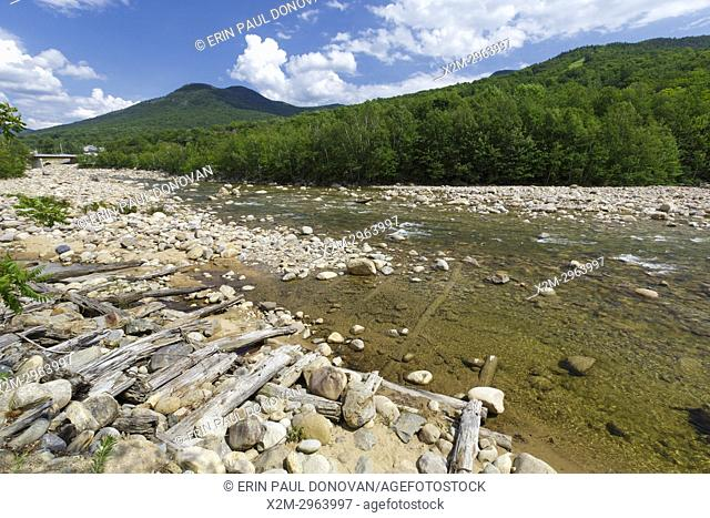 Location of where the Number 1 Dam was on the East Branch of the Pemigewasset River in Lincoln, New Hampshire. Built in the early 1900s