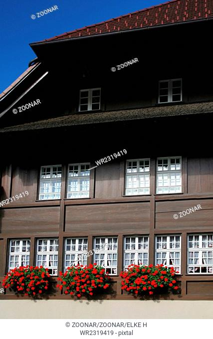 timbered house in black forest