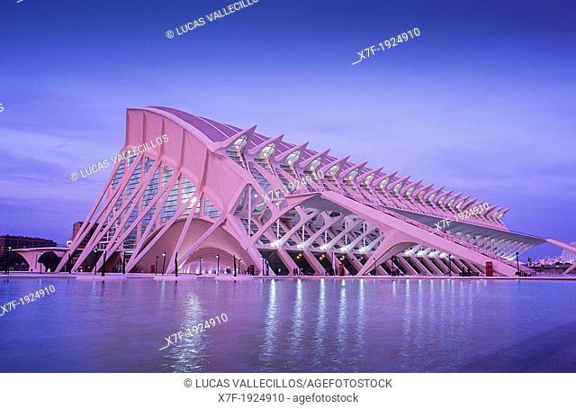 Príncipe Felipe Sciences Museum,City of Arts and Sciences, by S  Calatrava  Valencia  Spain