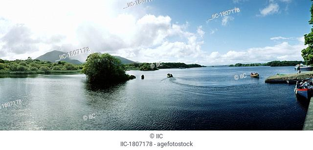 Lough Leane, Co Kerry, Ireland, Panoramic view over Lough Leane