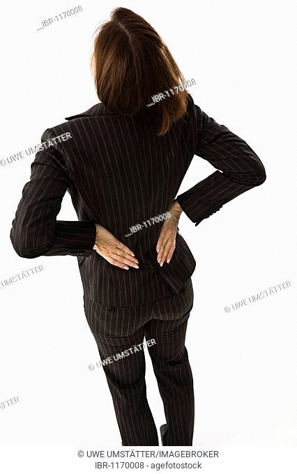 Business woman, back aching