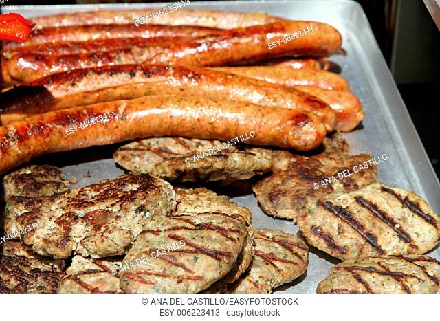 Meat and sausages for sale Utrecht restaurant Holland
