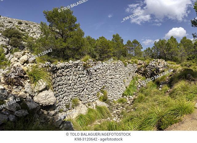 casa de neu de es Coll des Coloms, Escorca, Paraje natural de la Serra de Tramuntana, Mallorca, balearic islands, Spain