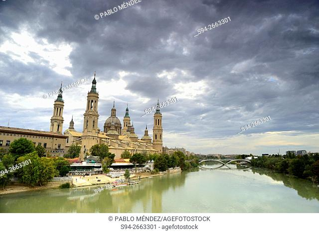 Basilica of Our Lady of El Pilar in Zaragoza, Spain