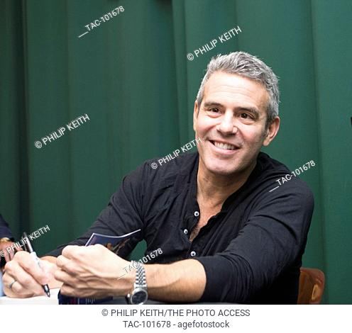"""Andy Cohen attends a signing of his new book, """"""""The Andy Cohen Diaries: A Deep Look at a Shallow Year"""""""" at Barnes & Noble Booksellers on November 3rd"""
