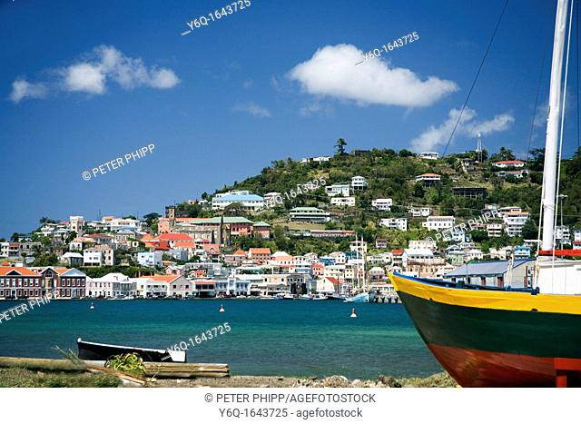 Georgetown in Grenada Caribbean