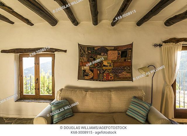 Interior of a traditional house in Capileira, Alpujarras, Spain