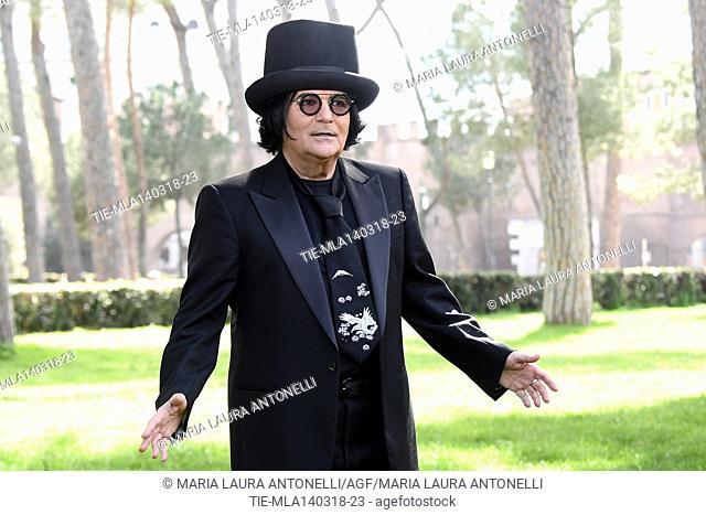 Presentation of Zerovskij Solo per Amore the movie show conceived written and directed by Renato Zero . Rome, Italy 14-03-2018