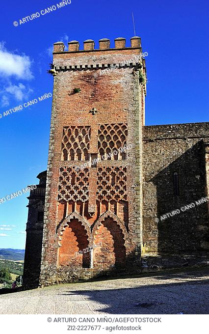 Mudejar tower, Church of Nuestra Señora del Mayor Dolor, XVth century. Aracena, Huelva province, Spain
