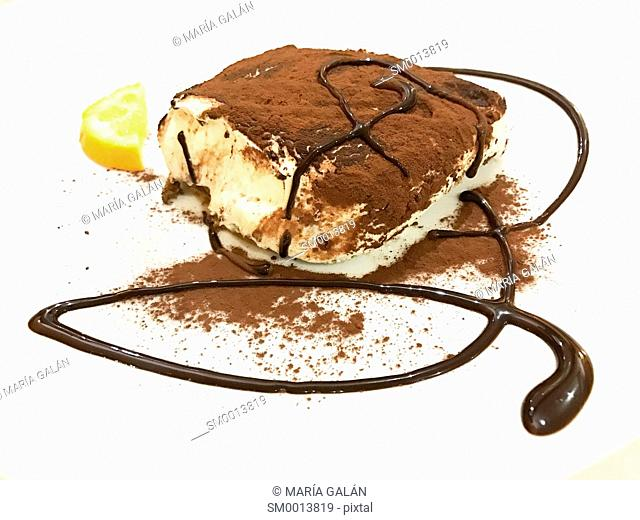 Tiramisu, traditional Italian dessert made of Mascarpone cheese and cocoa