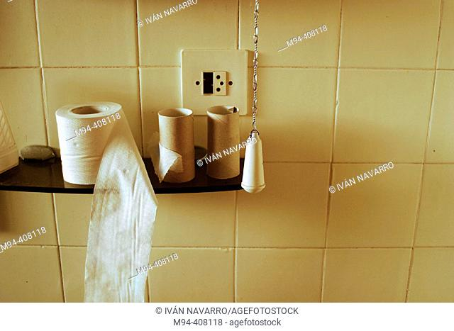 Toilet paper and toilet pull chain