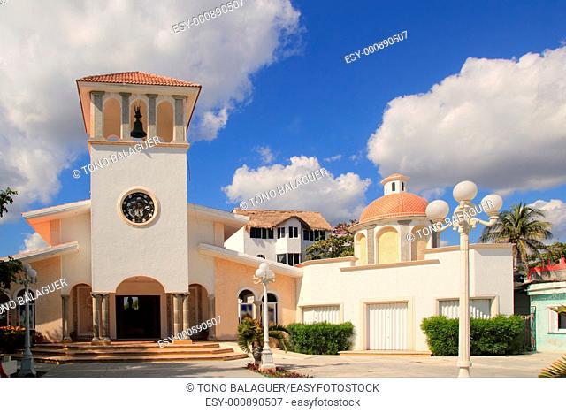 Church Puerto Morelos in Mexico Mayan Riviera