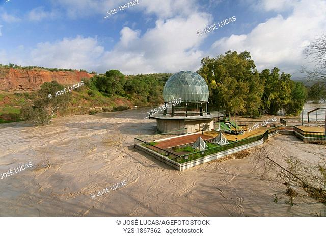 Guadalquivir river floods, Roof of the Public Baths, Marmolejo, Jaen-province, Spain