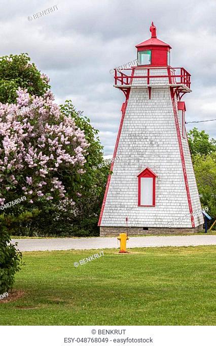 Manitowaning Lighthouse on Manitoulin Island. Manitowaning, Manitoulin Island, Ontario, Canada