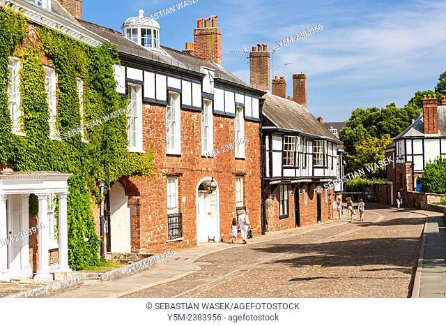 Cathedral Close, Exeter, Devon, England, United Kingdom, Europe