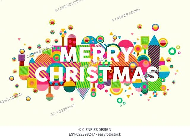 Merry christmas colorful abstract greeting card background