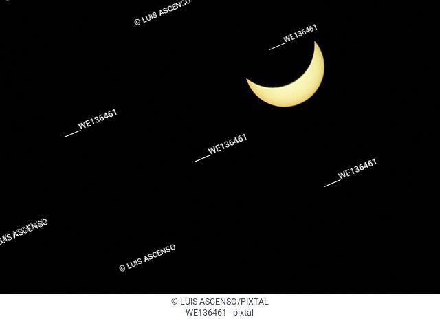 Partial sun eclipse, sun eclipse, eclipse, sun