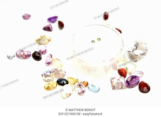 Green Diamonds with Gems