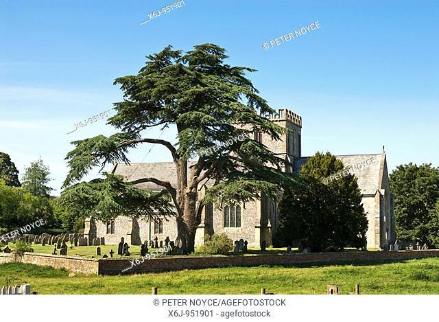 Saint Mary's Church, Great Bedwyn Berks with Yew Tree