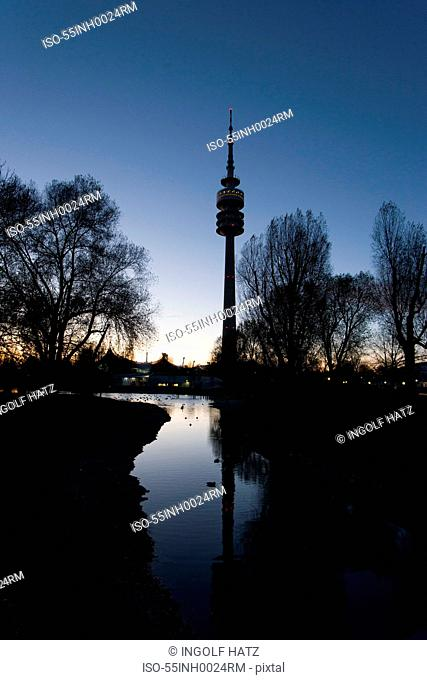 1972 Olympic Tower (Olympiaturm), Munich, Bavaria, Germany