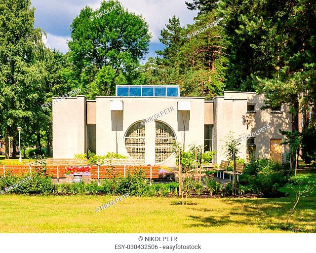 Drinking mineral water pump room. Health resort . Druskininkai, Lithuania
