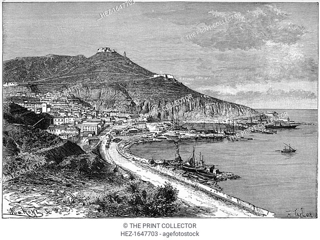 Oran, Algeria, c1890. View taken from the marine. Illustration from The Universal Geography with Illustrations and Maps, Division XXI, (Virtue & Co Limited