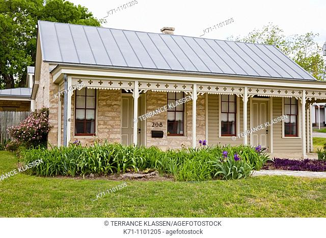 A sunday house in the German village of Fredericksburg, Texas, USA