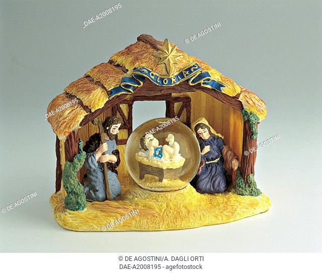 Collecting: Snowglobes - Christmas Theme - Christmas Crib - Sacred Family's Hut  Private Collection